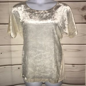 NWT lucky brand cream velvet top!